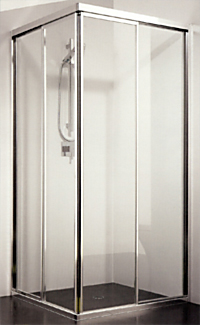 Corner Entry Sliding Shower Screen